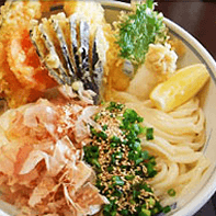 Authentic handmade udon noodles