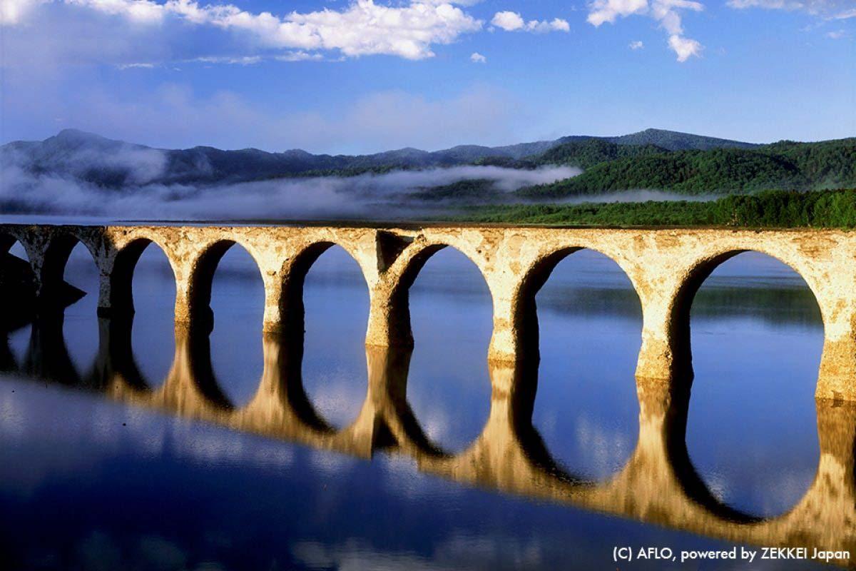 糠平湖桥梁