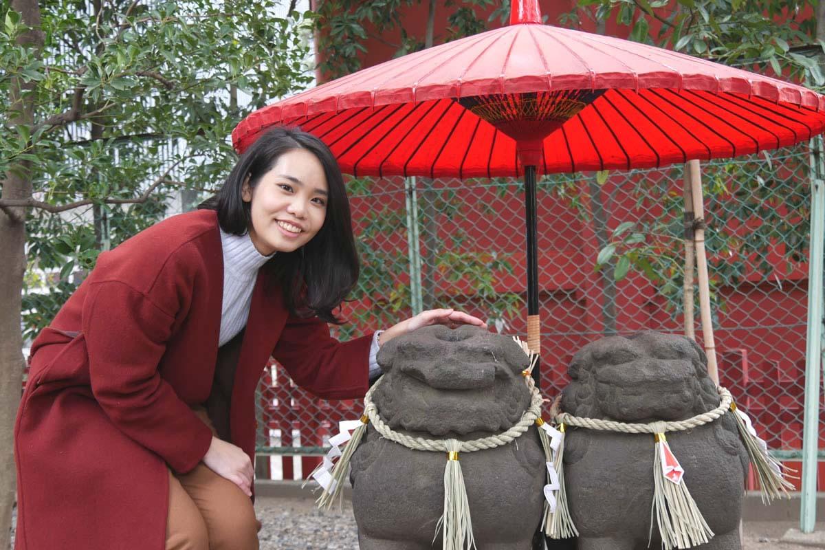 浅草神社・夫妇石狮
