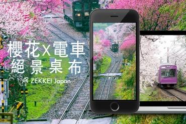 【3月份絕景桌布】春季櫻花x電車絕景桌布大放送!
