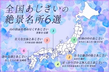 【梅雨入り前に押さえたい】全国あじさいの絶景名所6選