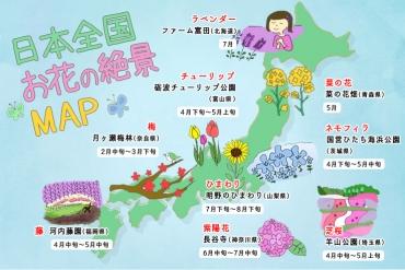 【日本お花マップ】編集長がセレクト!お花の絶景スポット9選