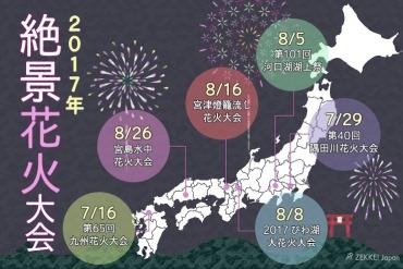 【今年不容錯過!】絕景╳煙火一次滿足!精選日本6大絕景煙火大會