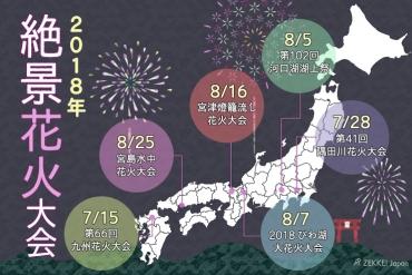 【2018年版】絶景×花火のコラボレーションが楽しめる絶景花火大会6選
