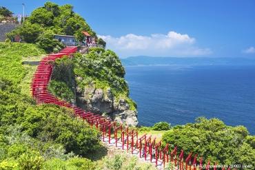 鳥居と海が織りなす絶景「元乃隅稲成神社」で運だめし!