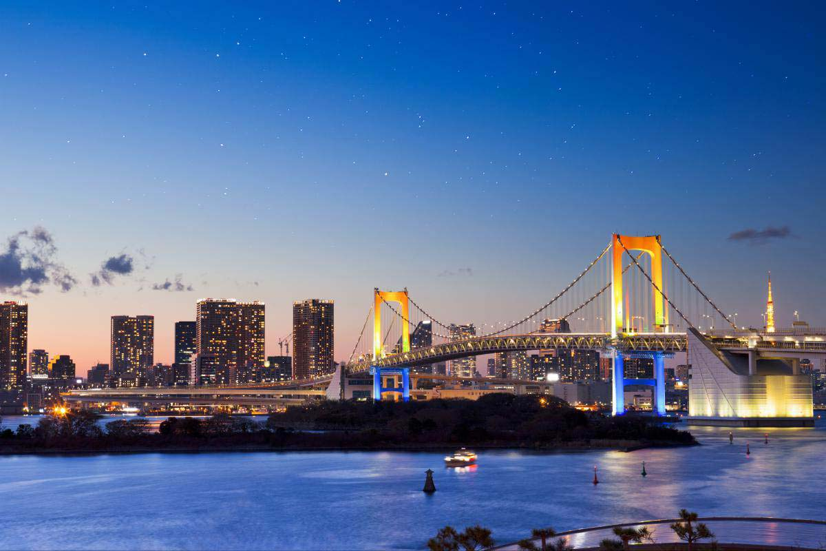 Image result for rainbow bridge odaiba
