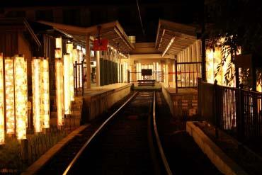 Randen Arashiyama Station's KIMONO FOREST(Kyoto)