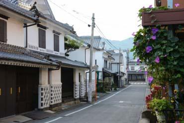 筑後吉井白壁土蔵の町並み