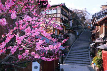 Kiyomizu Temple's sloping paths