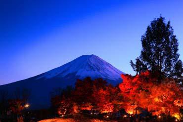 富士河口湖红叶节(富士山)