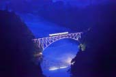 Tadami River first iron bridge