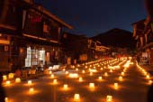 奈良井宿冰蠟燭祭